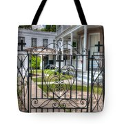 Heart And Cross Tote Bag