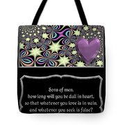 Heart And Love Design 14 With Bible Quote Tote Bag