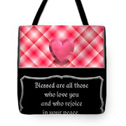 Heart And Love Design 15 With Bible Quote Tote Bag