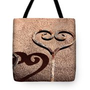 Heart And Shadow Tote Bag