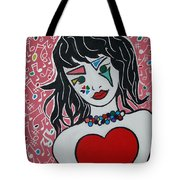 Heart Bit Tote Bag