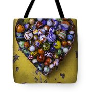Heart Box Full Of Marbles Tote Bag