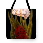 Heart Cooks Brain Tote Bag