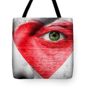 Heart Face Tote Bag
