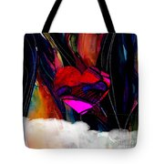 Heart Floating Above Clouds Tote Bag