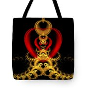 Heart In Chains Tote Bag by Sandy Keeton