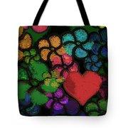 Heart In Flowers Tote Bag