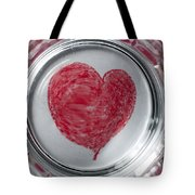 Heart In Mug Abstract 1 B Tote Bag