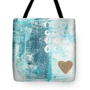 Heart In The Sand- Abstract Art Tote Bag