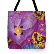 Heart Juxtaposition Tote Bag by Alixandra Mullins