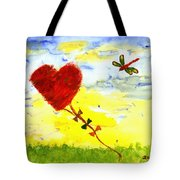 Heart Kite Tote Bag