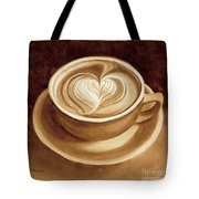 Heart Latte II Tote Bag