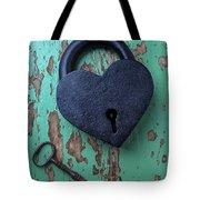 Heart Lock And Key Tote Bag