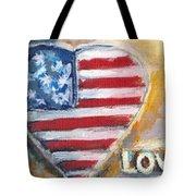 Heart Love Usa Tote Bag