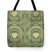 Heart Motif Ecclesiastical Wallpaper Tote Bag