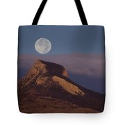 Heart Mountain And Full Moon-signed-#0325 Tote Bag