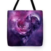 Heart Of A Rose - Burgundy Purple Tote Bag