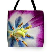 Heart Of A Tulip - Square Tote Bag