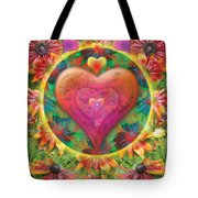 Heart Of Flowers Tote Bag