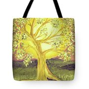Heart Of Gold Tree By Jrr Tote Bag