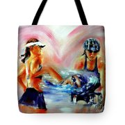 Heart Of The Triathlete Tote Bag
