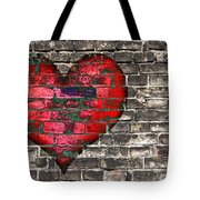 Heart On The Old Wall Tote Bag