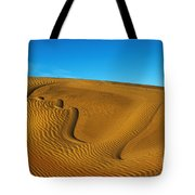 Heart In The Sand Dunes Tote Bag