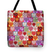 Heart Patches Tote Bag