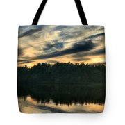 Heart Pond Sunset Tote Bag