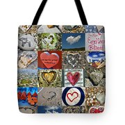 Heart Shape Collage  Tote Bag
