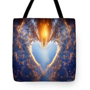 Heart Shape On Sunset Sky Tote Bag