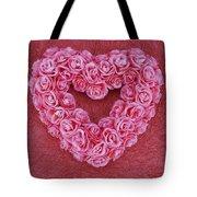 Heart-shaped Floral Arrangement Tote Bag