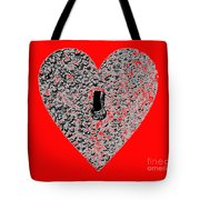 Heart Shaped Lock - Red Tote Bag