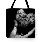 Heart Shaped Rock Tote Bag