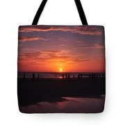 Heart Shaped Sunset In Brazil Tote Bag