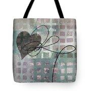 Heart String Abstract- Art  Tote Bag