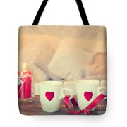Heart Teacups Tote Bag