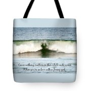 Heart Wave Seaside Nj Jersey Girl Quote Tote Bag