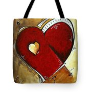 Heartbeat By Madart Tote Bag