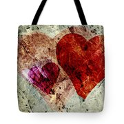 Hearts 10 Square Tote Bag