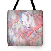 Hearts 15 Square Tote Bag