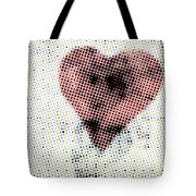Hearts 21 Square Tote Bag