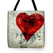 Hearts 3 Square Tote Bag