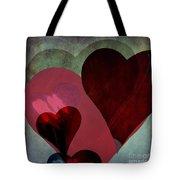 Hearts 9 Square Tote Bag