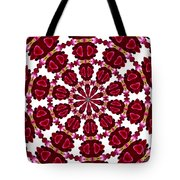 Hearts And Orchids Kaleidoscope Tote Bag
