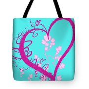 Hearts And Vines Tote Bag