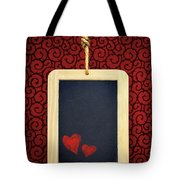 Hearts In Slate Tote Bag