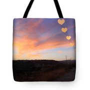 Hearts Sunset Tote Bag by Augusta Stylianou