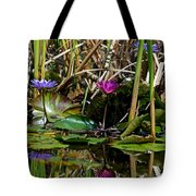 Heat Of The Afternoon - Down At The Lily Pond Iv Tote Bag