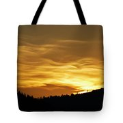 Heavenly Gold Sunset Tote Bag